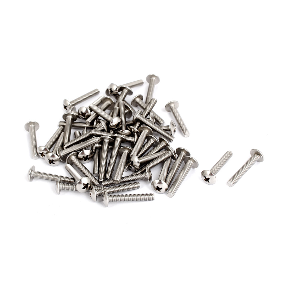 M4x25mm Stainless Steel Truss Phillips Head Machine Screws 50pcs