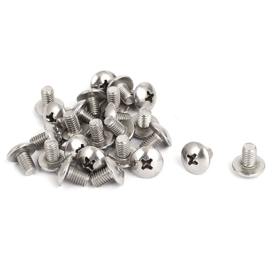 M5x8mm Stainless Steel Truss Phillips Head Machine Screws 25pcs