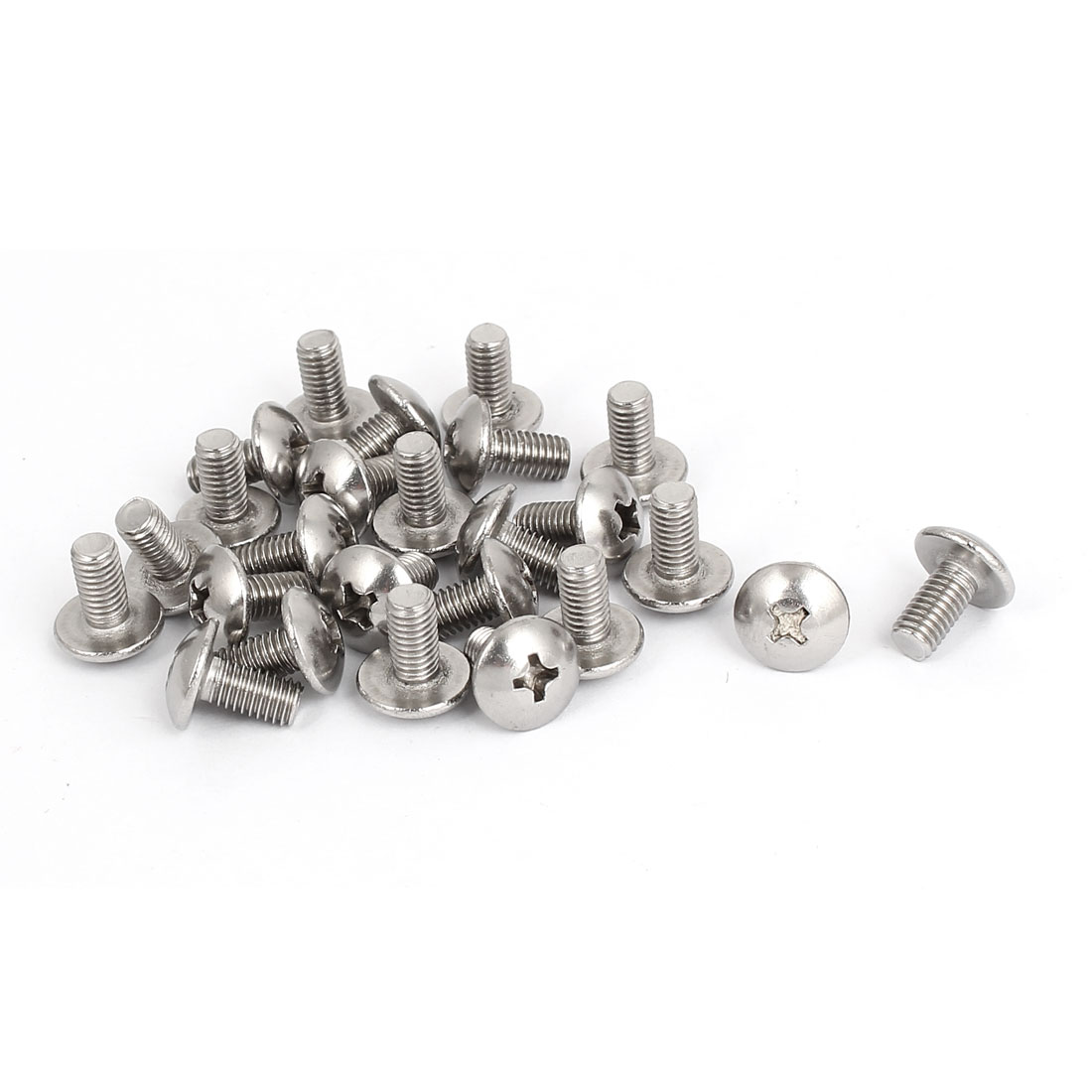 M5x10mm Stainless Steel Truss Phillips Head Machine Screws 25pcs