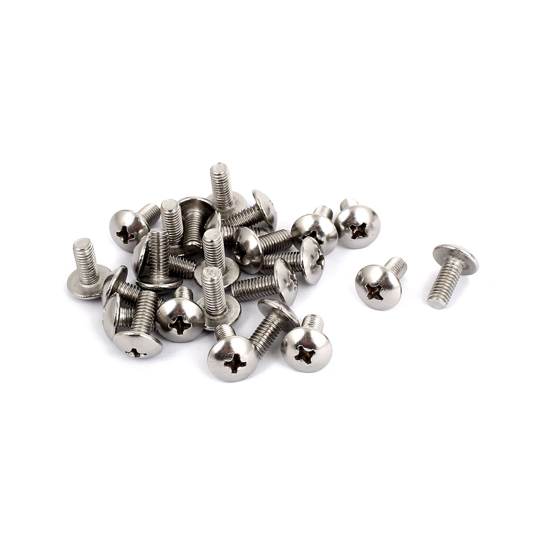 M5x12mm Stainless Steel Truss Phillips Head Machine Screws 25pcs