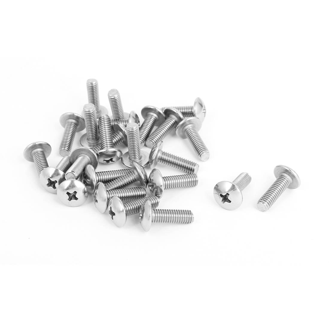 M5x16mm Stainless Steel Truss Phillips Head Machine Screws 25pcs