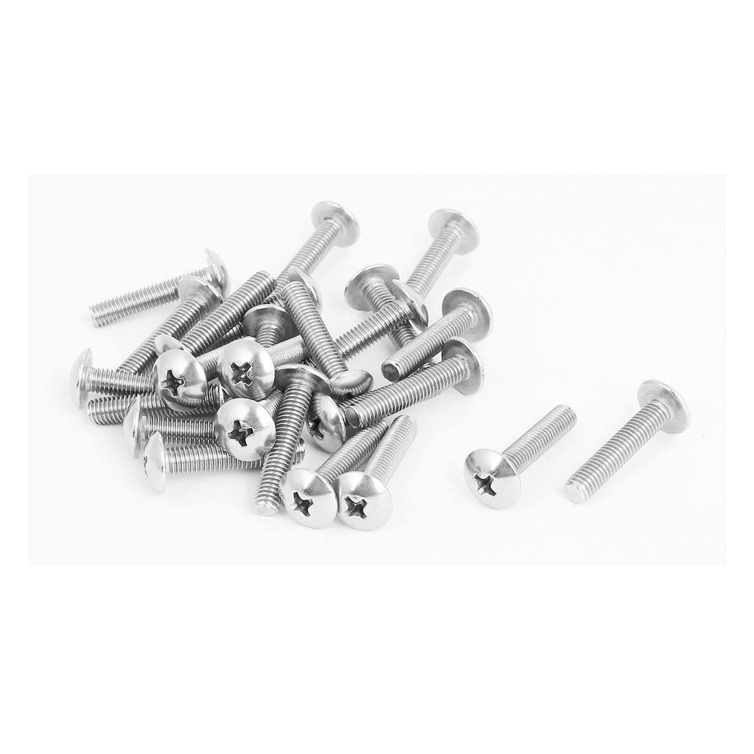 M5x25mm Stainless Steel Truss Phillips Head Machine Screws 25pcs