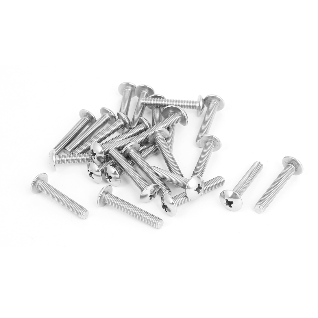 M5x30mm Stainless Steel Truss Phillips Head Machine Screws 25pcs