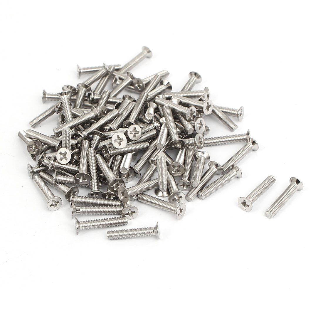 M3x16mm Stainless Steel Countersunk Flat Head Cross Phillips Screw Bolts 100pcs