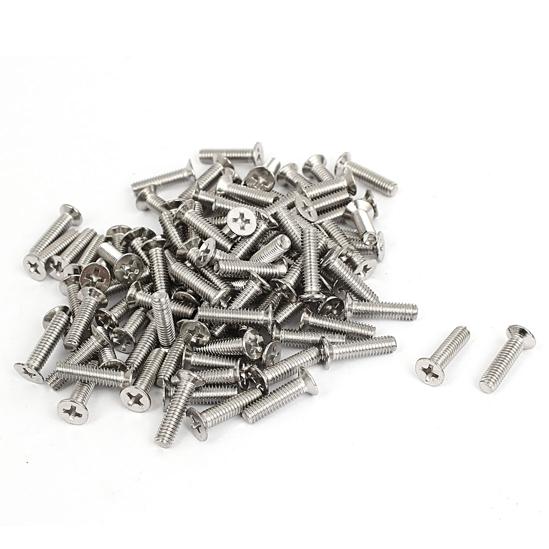 M4x16mm Stainless Steel Countersunk Flat Head Cross Phillips Screw Bolts 100pcs