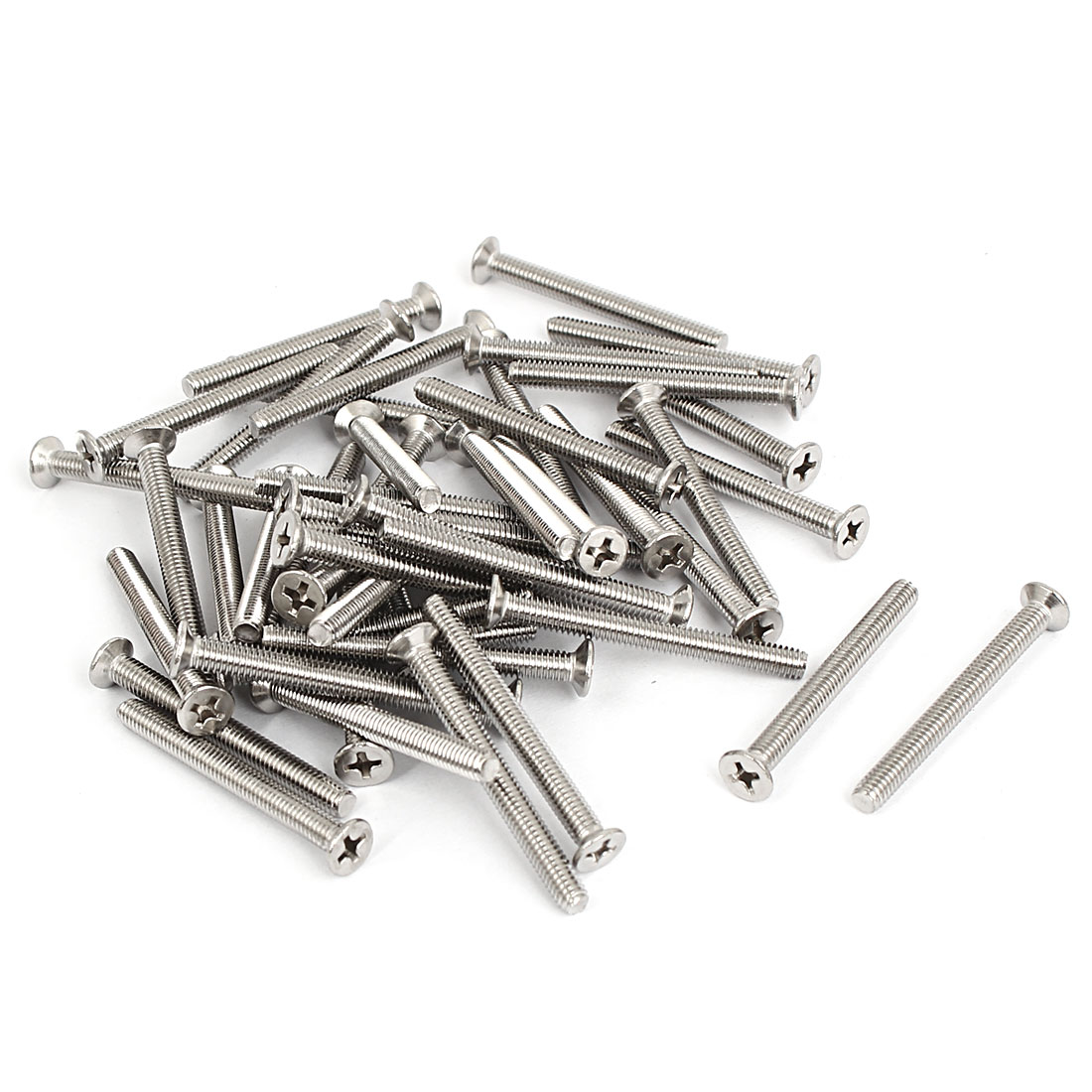 M4x40mm Stainless Steel Countersunk Flat Head Cross Phillips Screw Bolts 50pcs