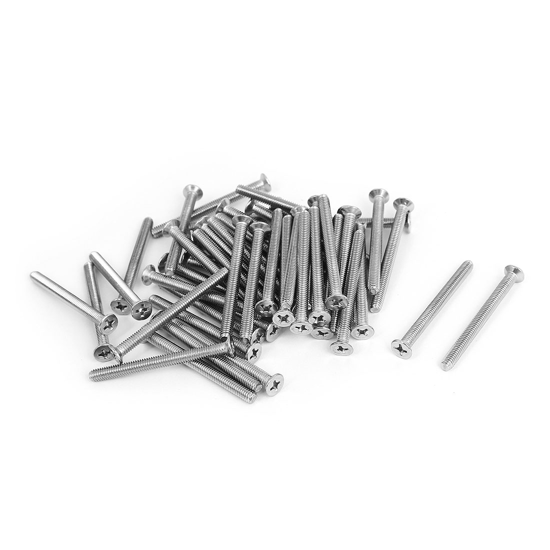 M4x45mm Stainless Steel Countersunk Flat Head Cross Phillips Screw Bolts 50pcs