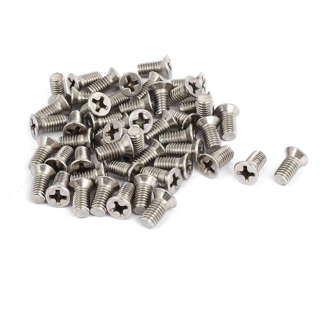 M5x10mm Stainless Steel Countersunk Flat Head Cross Phillips Screw Bolts 50pcs