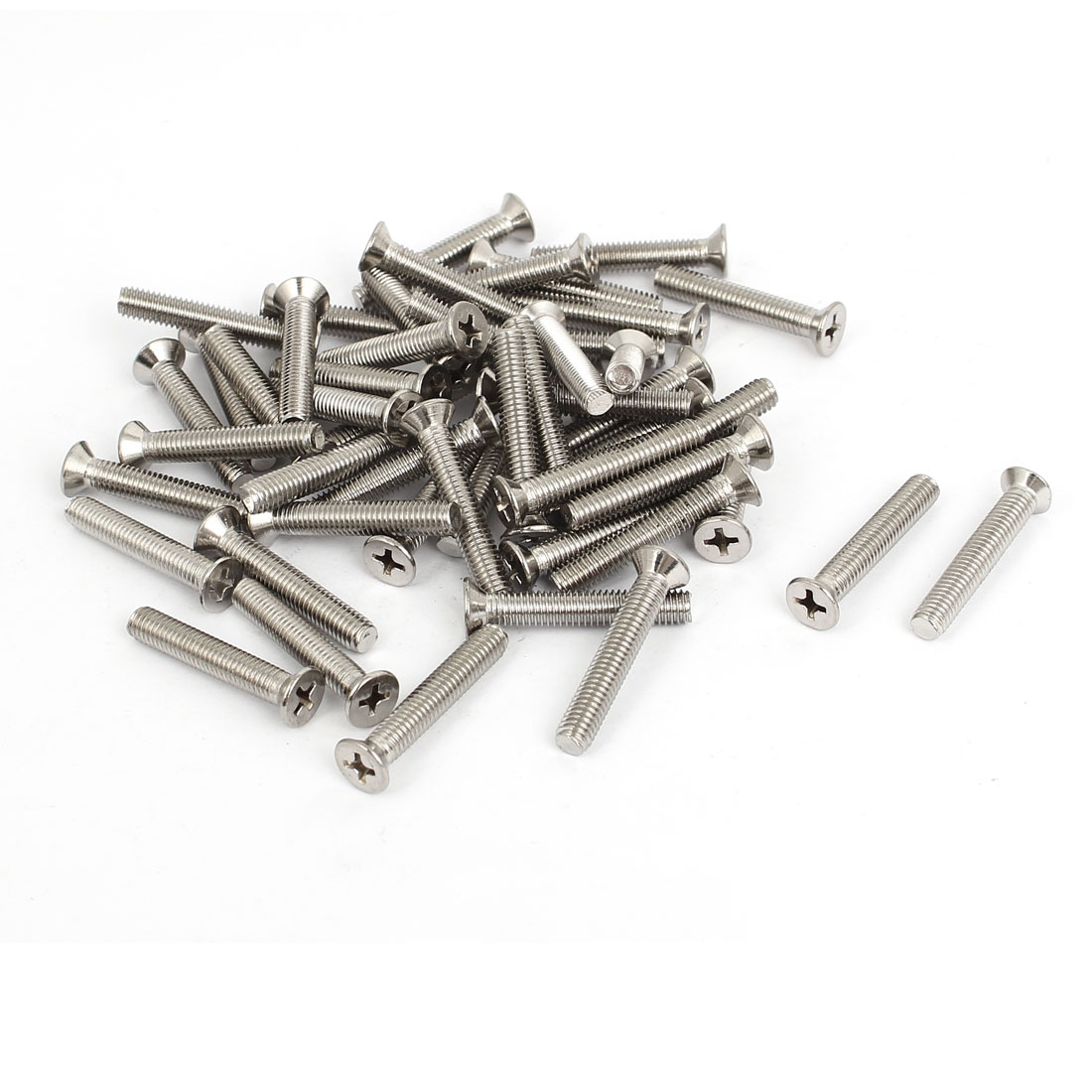 M5x30mm Stainless Steel Countersunk Flat Head Cross Phillips Screw Bolts 50pcs