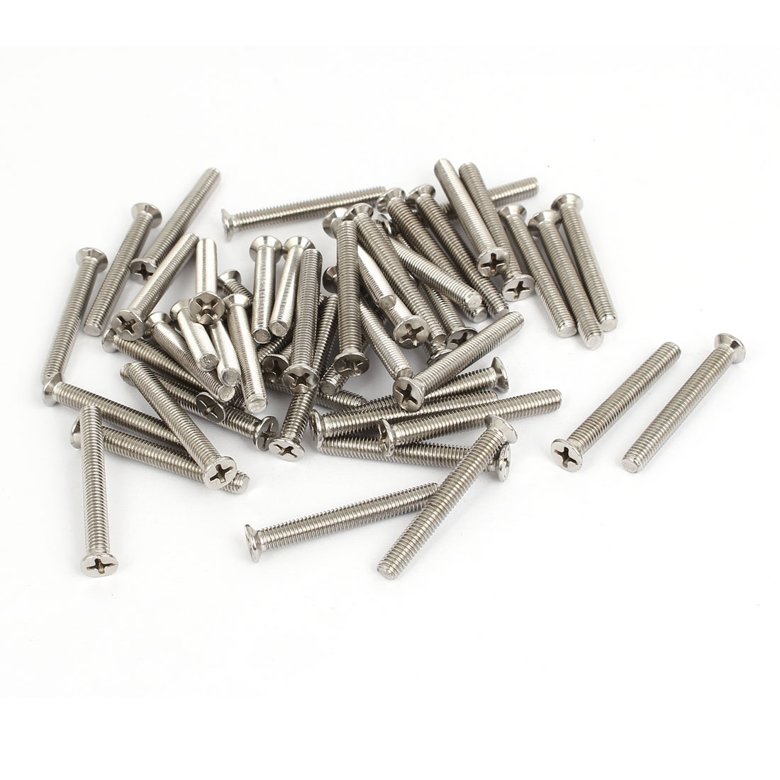 M5x40mm Stainless Steel Countersunk Flat Head Cross Phillips Screw Bolts 50pcs
