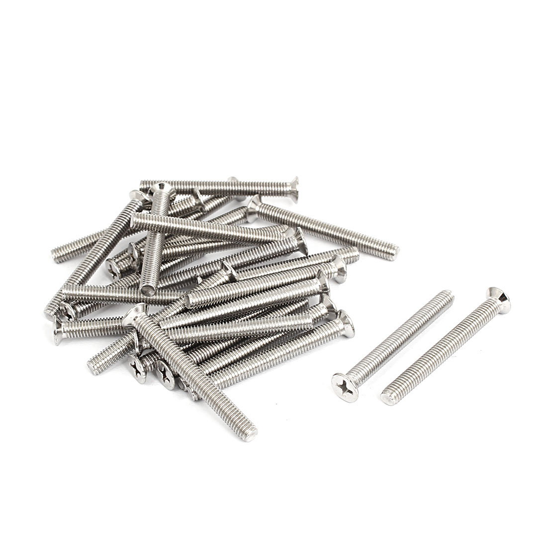 M5x50mm Stainless Steel Countersunk Flat Head Cross Phillips Screw Bolts 25pcs
