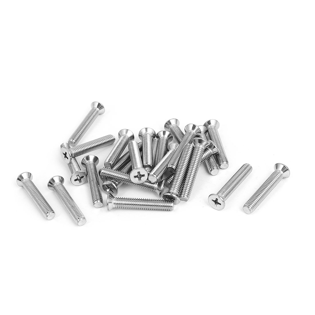 M6x35mm Stainless Steel Countersunk Flat Head Cross Phillips Screw Bolts 25pcs