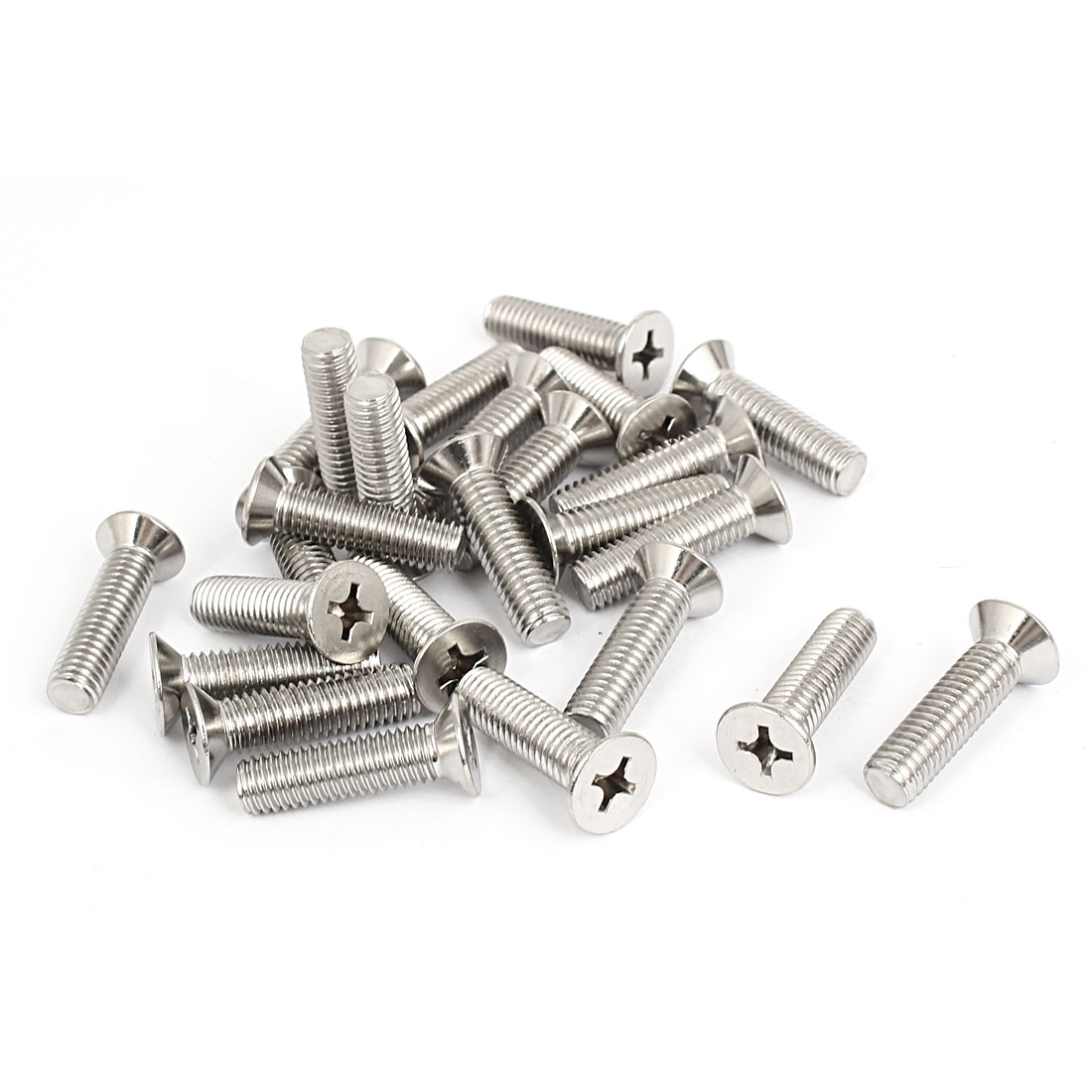 M8x30mm Stainless Steel Countersunk Flat Head Cross Phillips Screw Bolts 25pcs