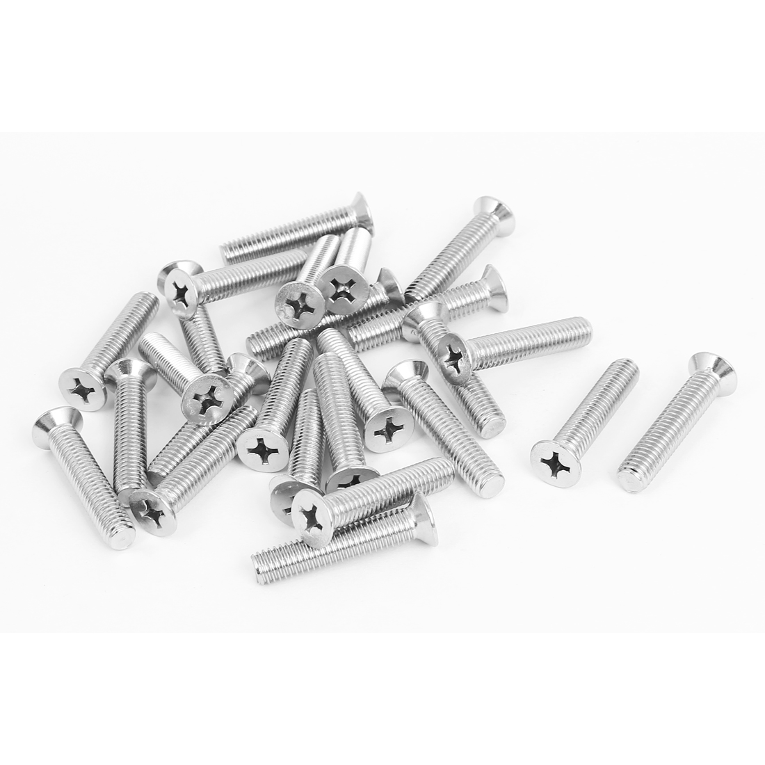 M8x40mm Stainless Steel Countersunk Flat Head Cross Phillips Screw Bolts 25pcs