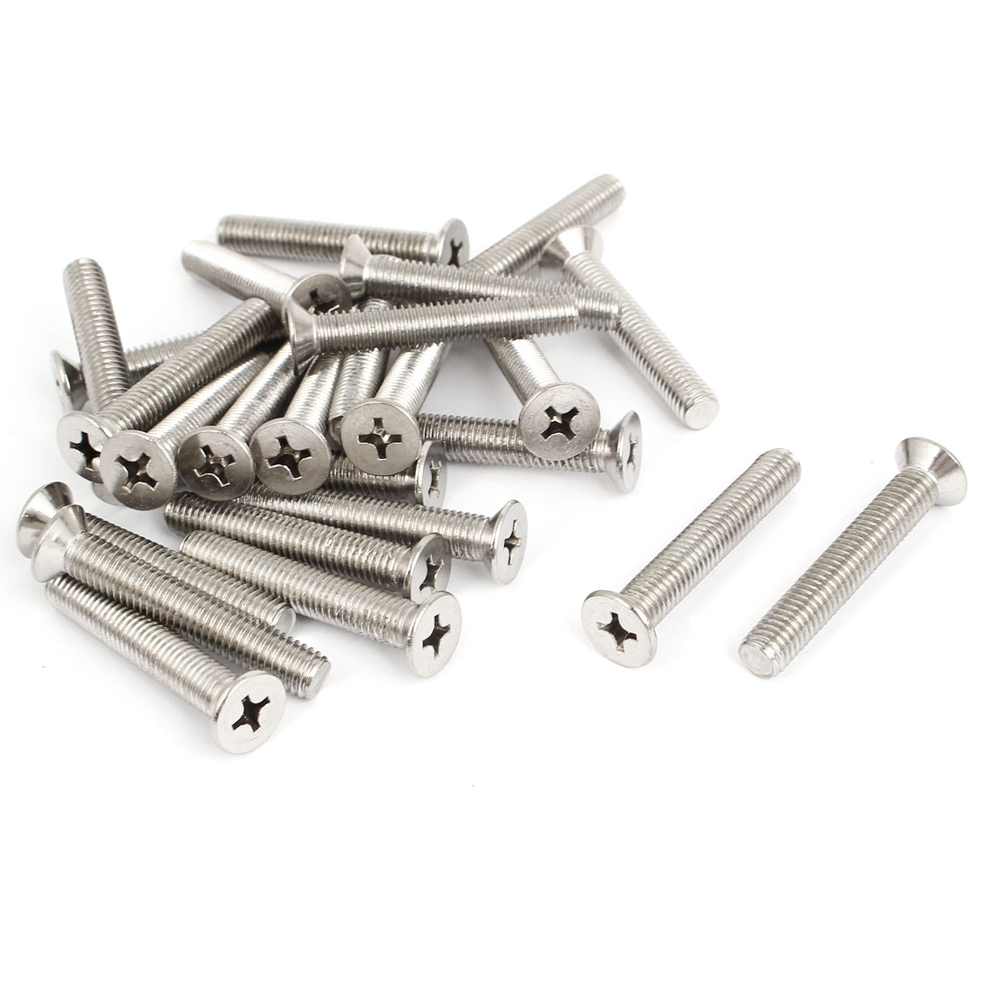 M8x50mm Stainless Steel Countersunk Flat Head Cross Phillips Screw Bolts 25pcs