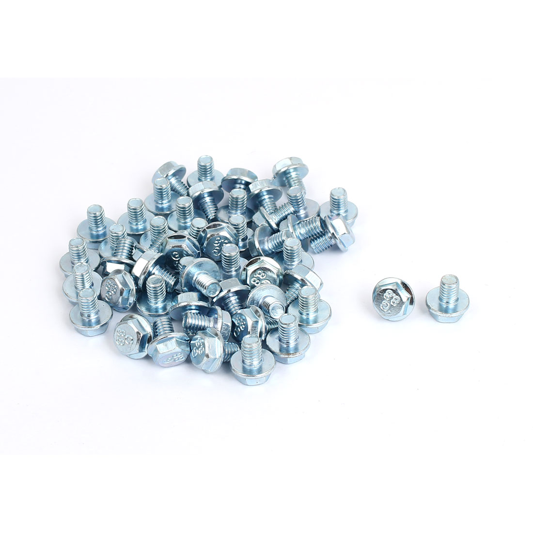 M6x8mm Grade 8.8 Metric Hex Flange Screws Bolts 50pcs