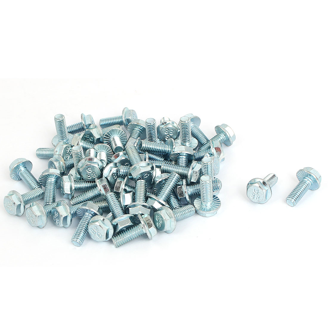 M6x16mm Grade 8.8 Metric Serrated Hex Flange Screws Bolts 50pcs