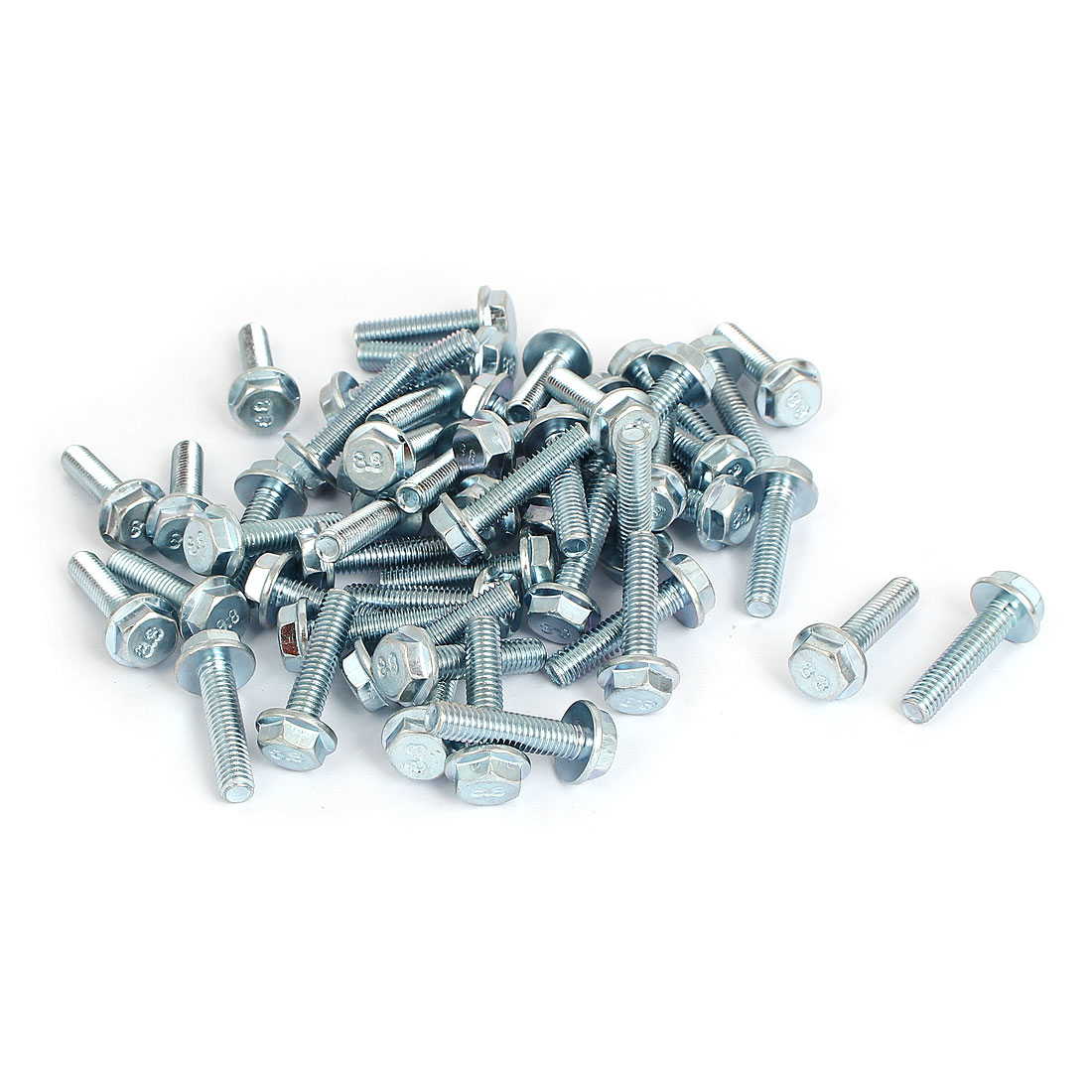 M6x25mm Grade 8.8 Metric Hex Flange Screws Bolts 50pcs