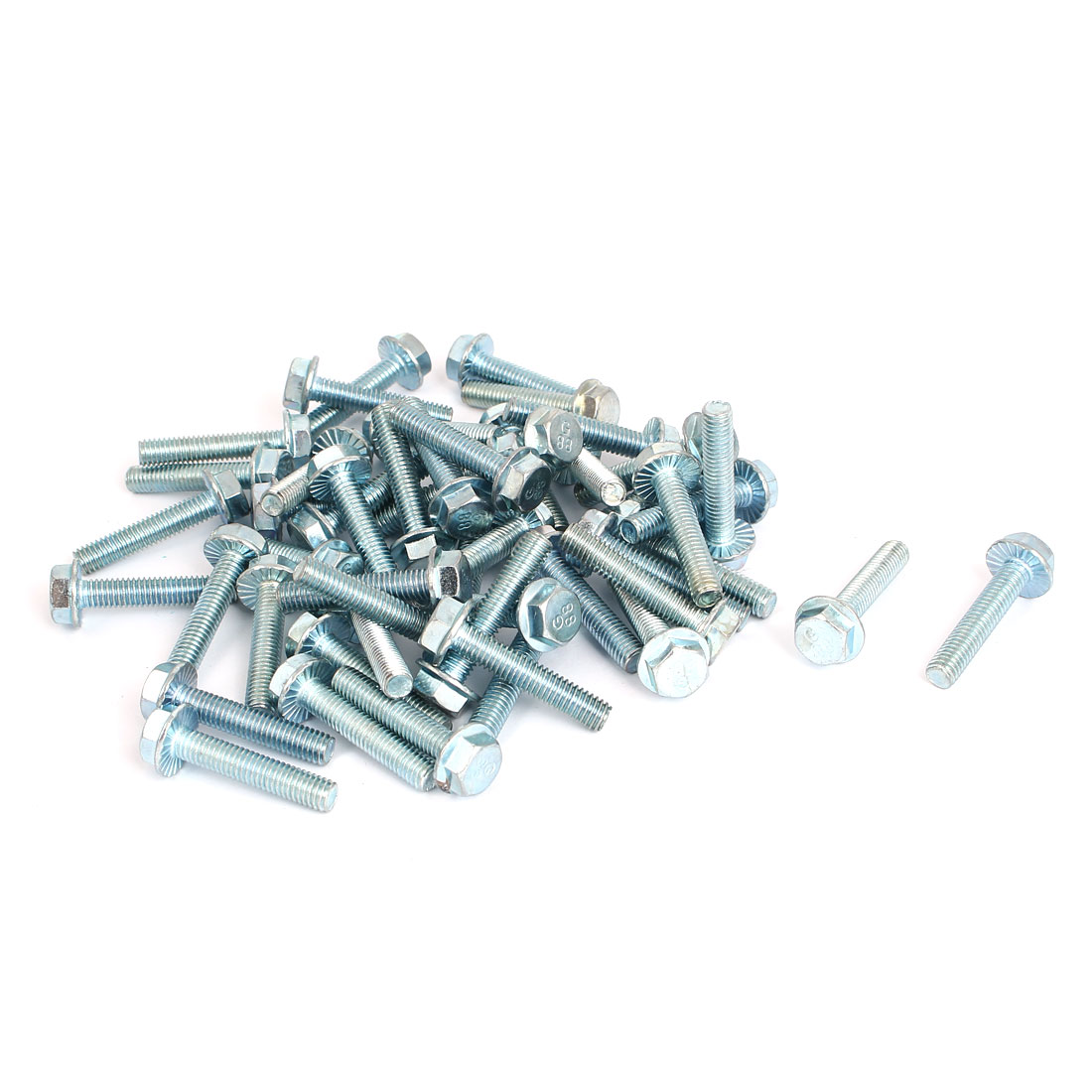 M6x30mm Grade 8.8 Metric Serrated Hex Flange Screws Bolts 50pcs