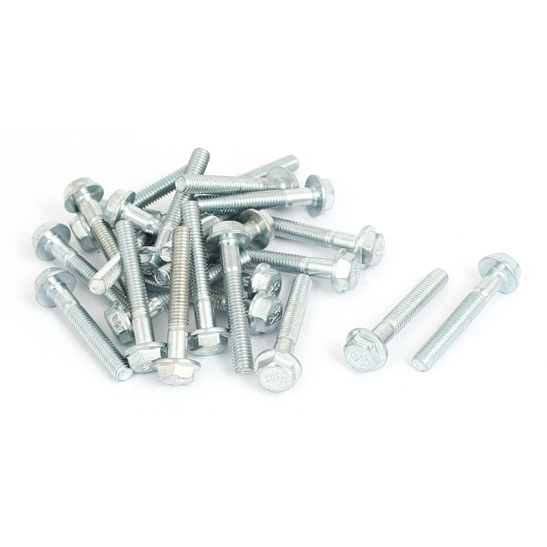M6x40mm Grade 8.8 Half Thread Hexagon Hex Flange Bolts Screws 25pcs