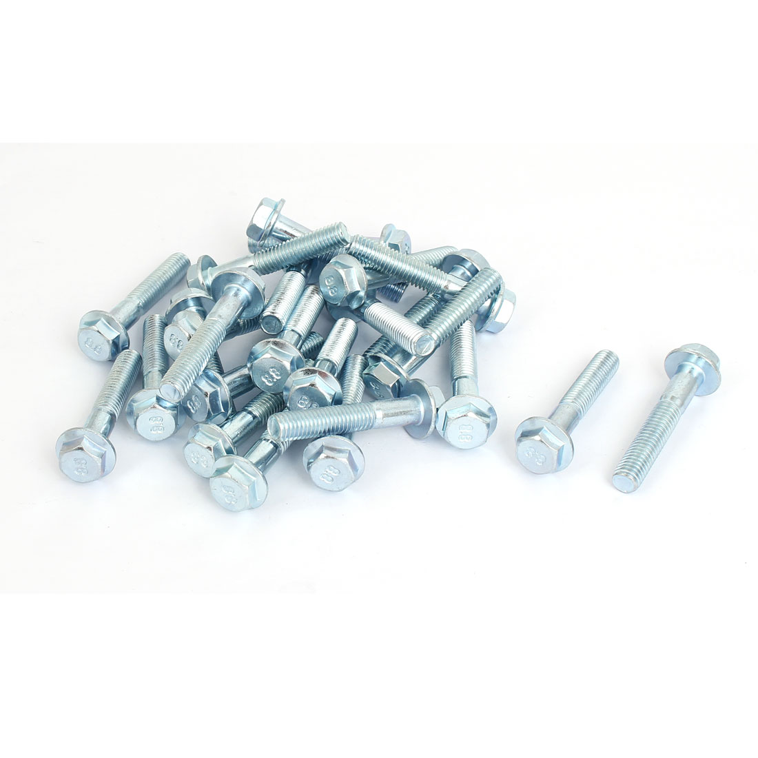 M8x45mm Grade 8.8 Half Thread Hexagon Hex Flange Bolts Screws 25pcs