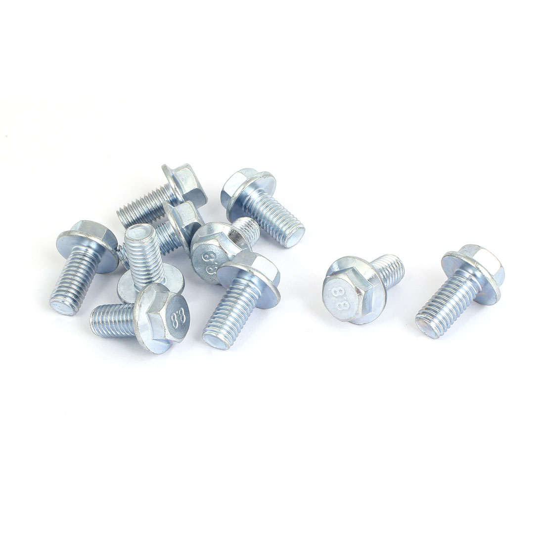 M10x20mm Grade 8.8 Metric Serrated Hex Flange Screws Bolts 10pcs