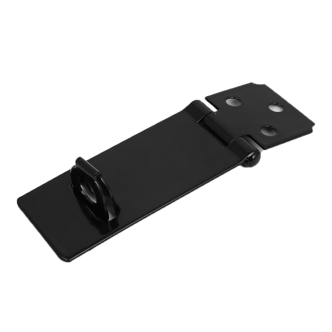 """3"""" Long Cabinet Cupboard Security Padlock Door Latch Hasp Staple Set Black"""