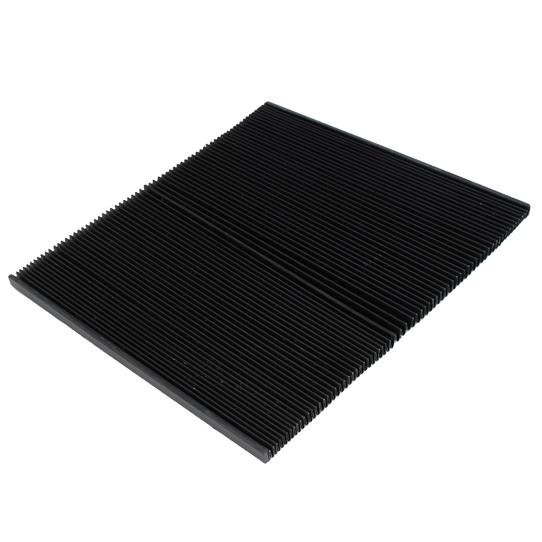 950mmx260mmx10mm Machine Fitting Foldable Dust Protective Cover Black