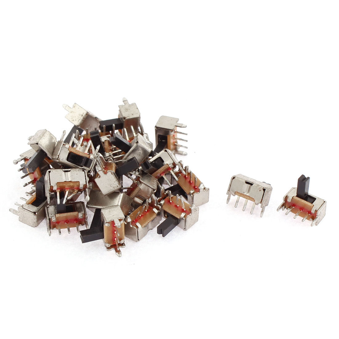 30pcs Panel Mount 2 Position SPDT 3 Terminals Mini Slide Switch DIY