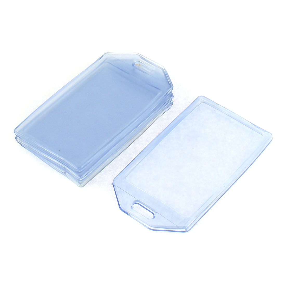 Vertical Clear Plastic ID Badge Card Holder Pocket Pouch 4pcs