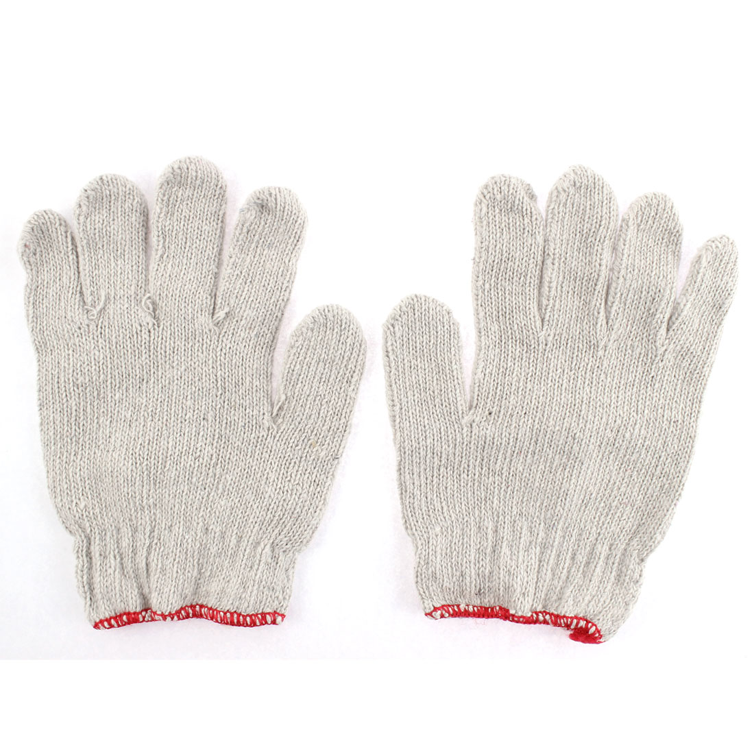 White Cotton Blend Knitted Soft Protective Work Working Gloves Pair