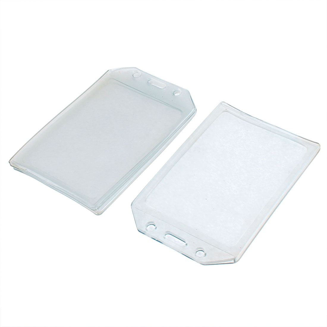 Plastic Vertical Business Bank Name ID Card Holder Cases Container 3pcs