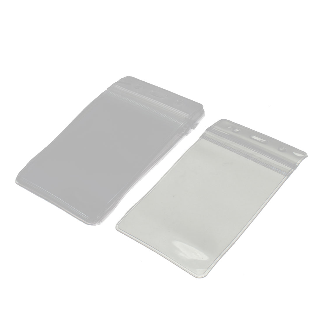 Clear Plastic Vertical Badge Name ID Card Holder Cases 8pcs