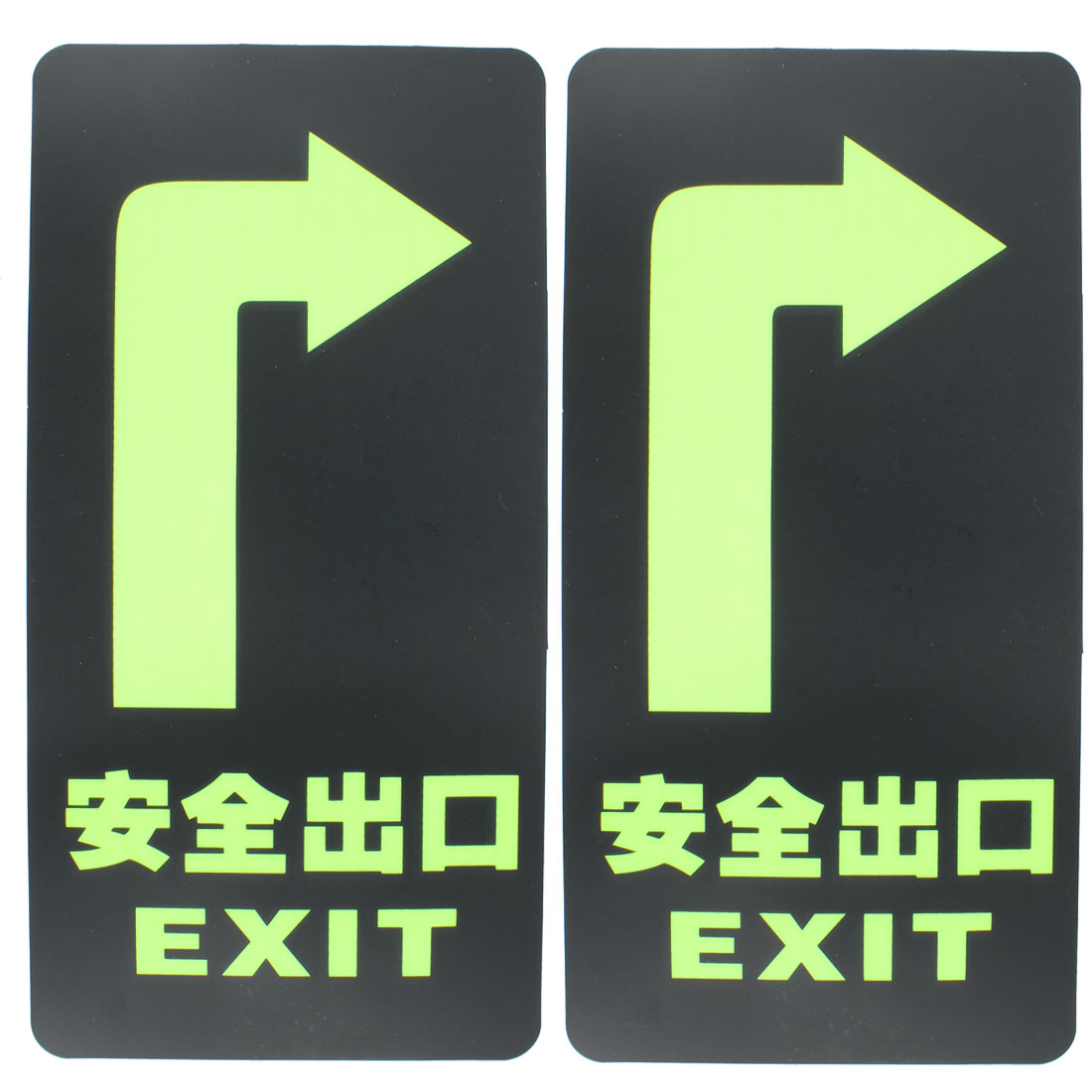 Emergency Exit Notice Caution Warning Safety Sign Stickers Decals 2pcs