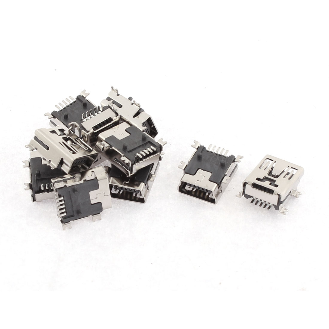 10Pcs Type B Female 5 Terminals Socket Solder Micro USB Connector Port