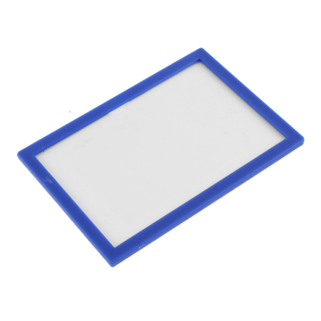 Blue Plastic Frame ID Card Holder Display Case Pouch Cover