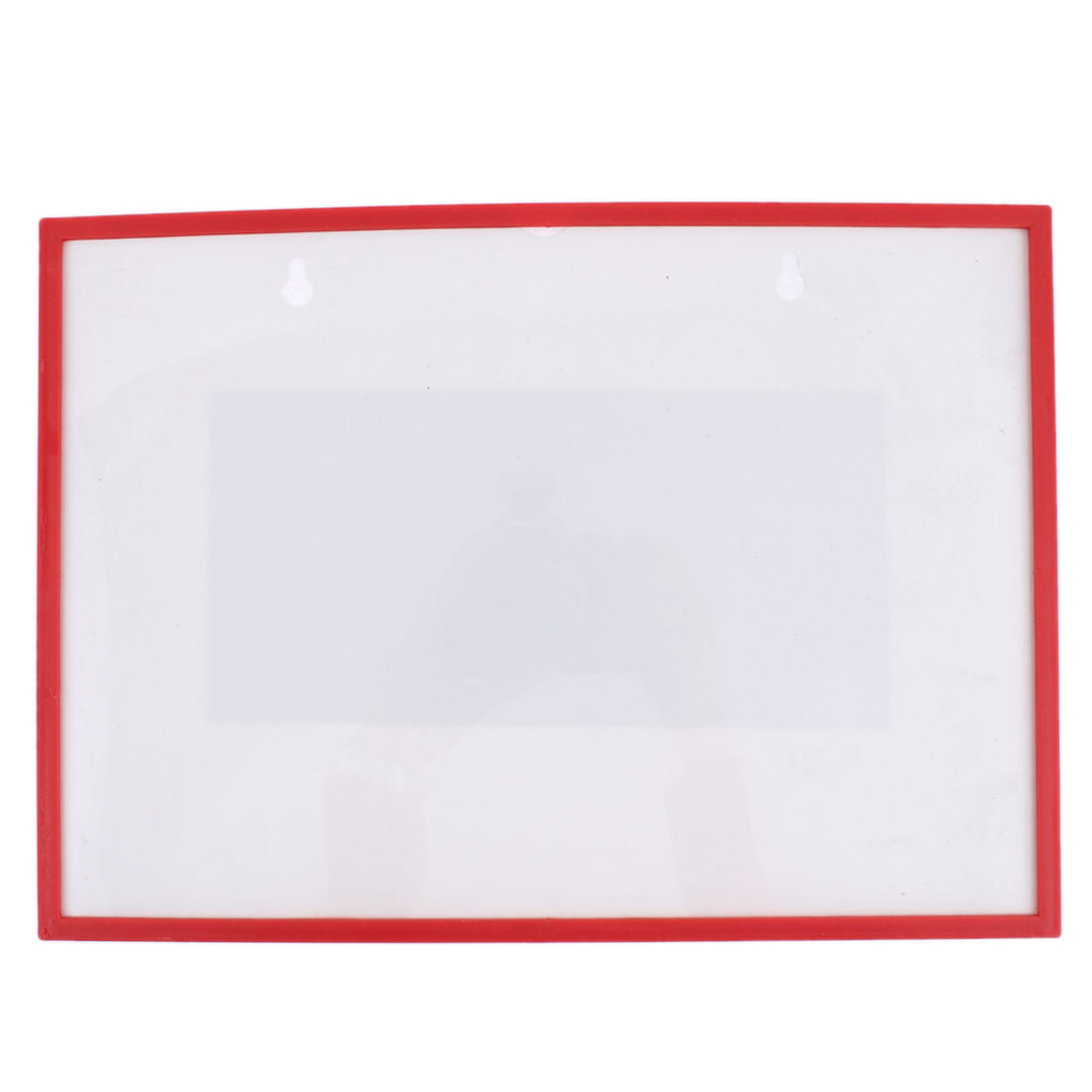 Red Plastic Frame A5 Name Badge Card Holder Protector Cover Case