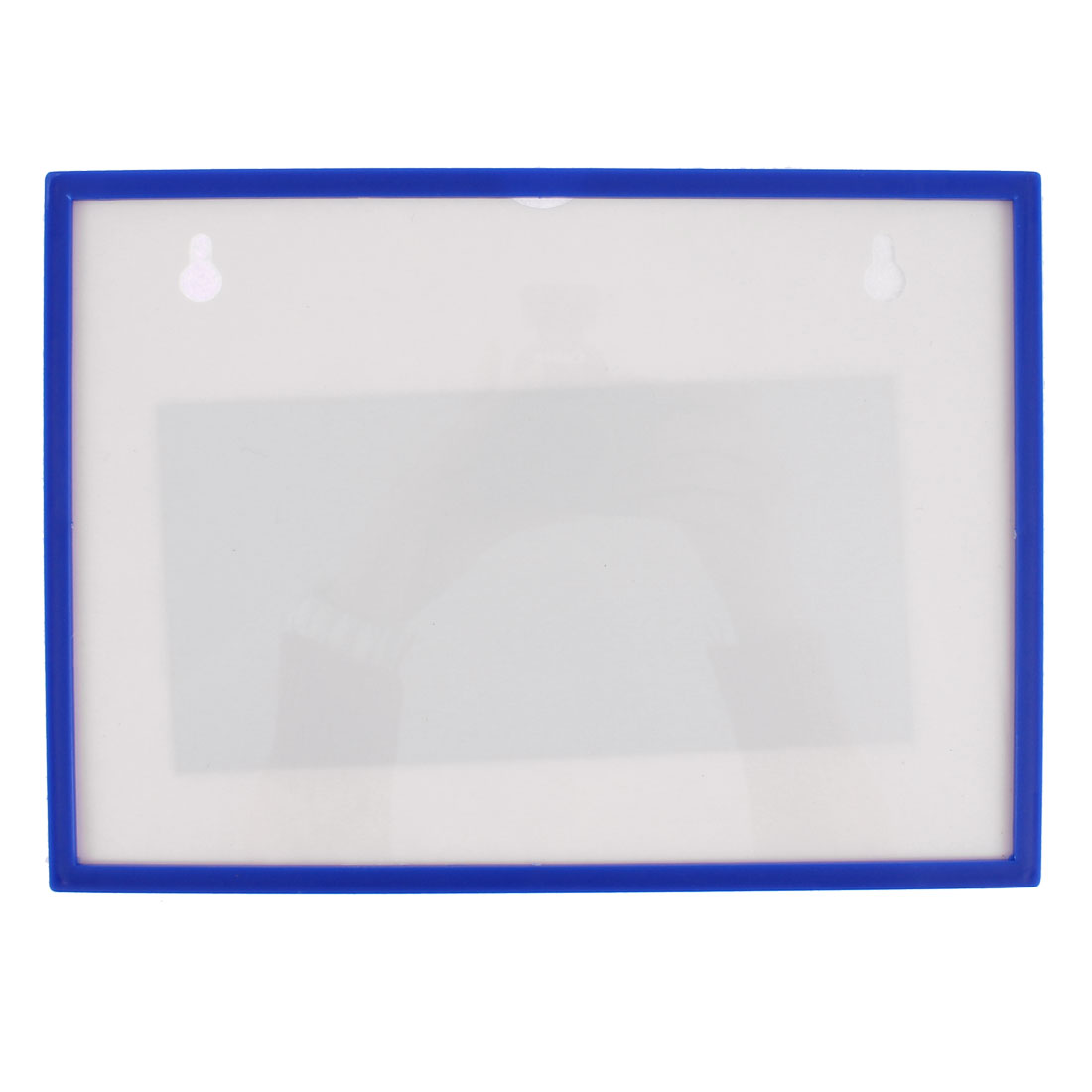 Blue Plastic Horizontal Name Badge ID Card Case Holder Protector