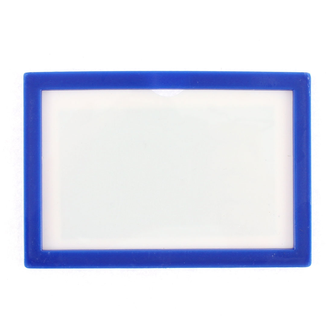 Blue Plastic Horizontal Badge Card Case Pocket Display Holder Bag