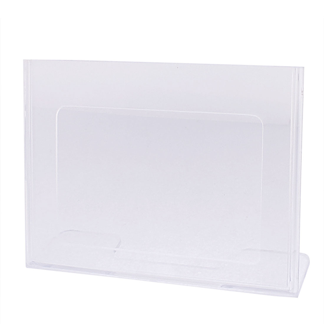 Clear Plastic Table Name Card Tag Advertising Sign Display Stand Holder