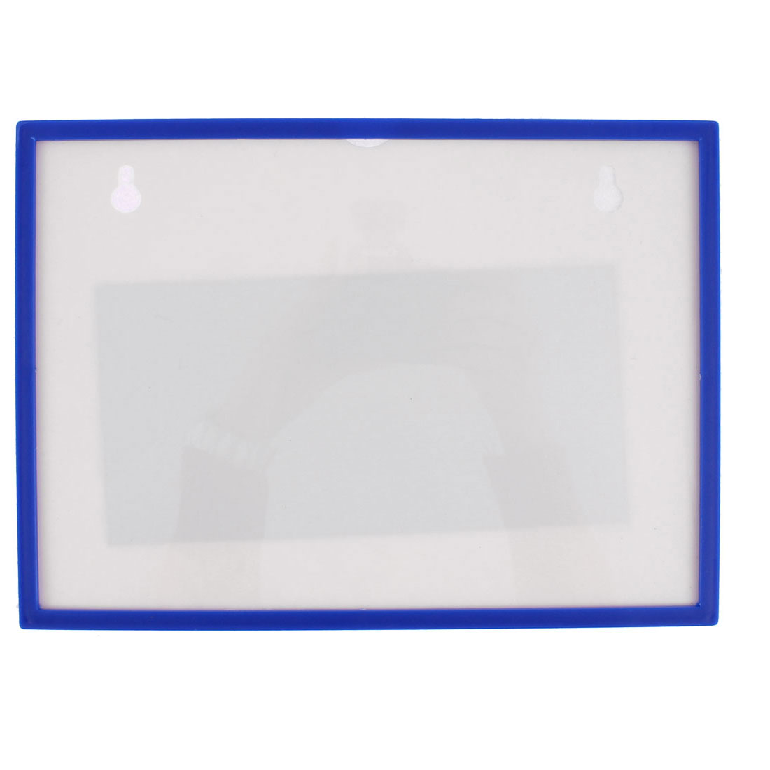 Blue Plastic A4 Cards Holder Case Document File Badge Pocket Cover