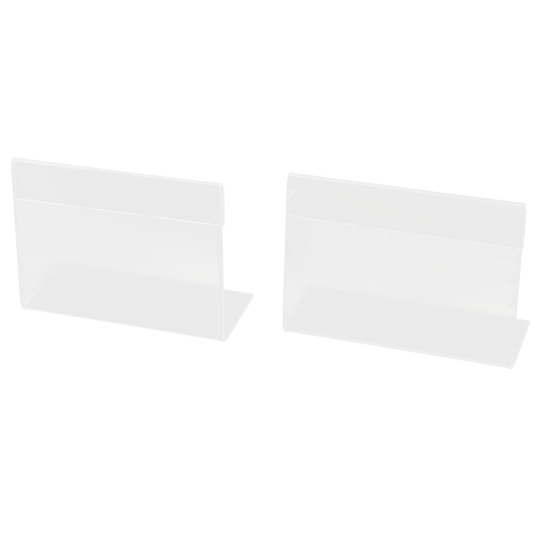 Desk Shelf Clear Plastic Business Card Holder Display Stand 2pcs