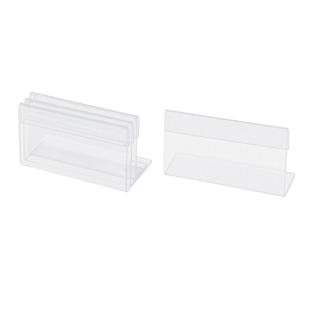 4pcs Clear Plastic Sign Tag Label Card Display Holder Stand