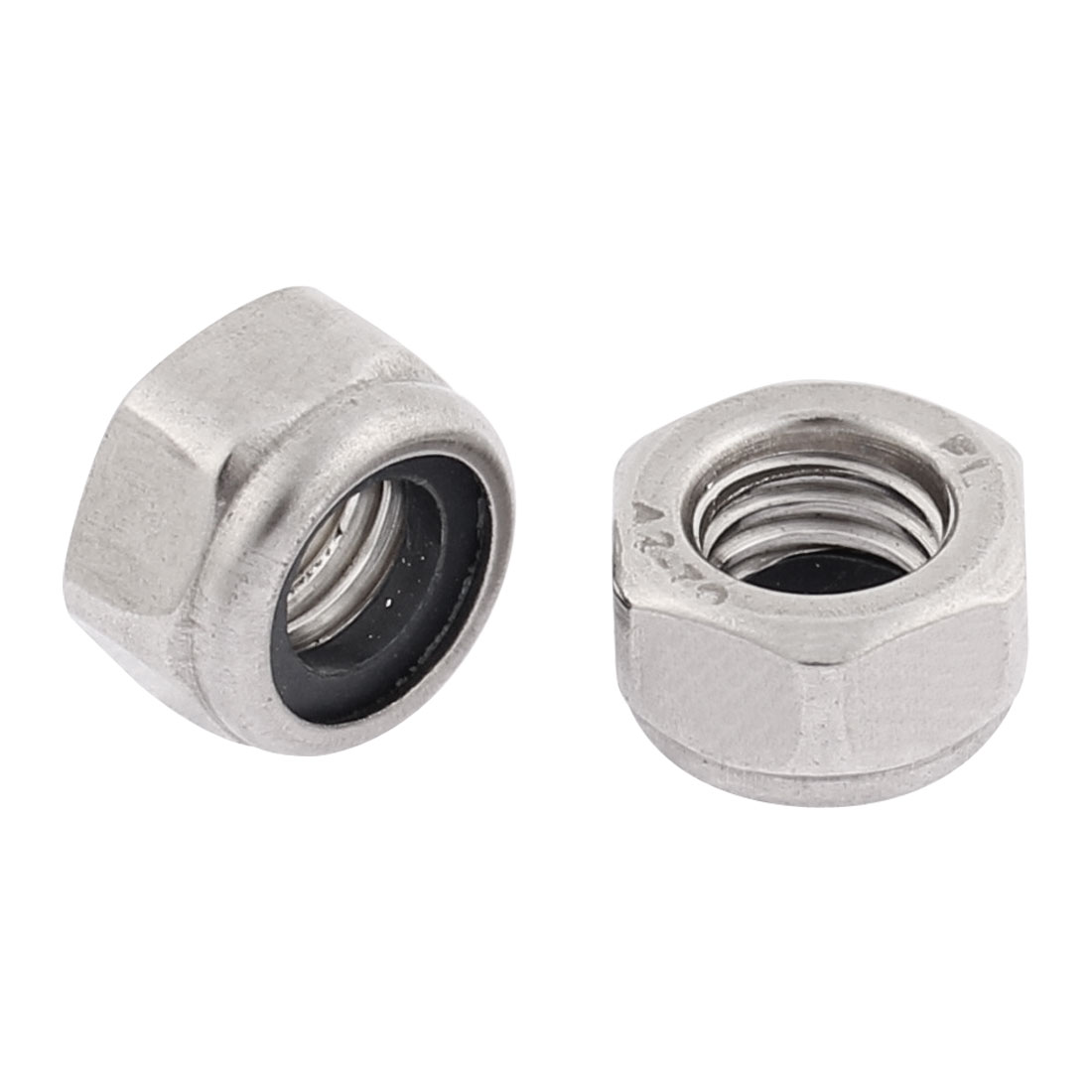 2pcs M8 Stainless Steel Anti-loose Hex Nylon Insert Lock Nuts Fasteners