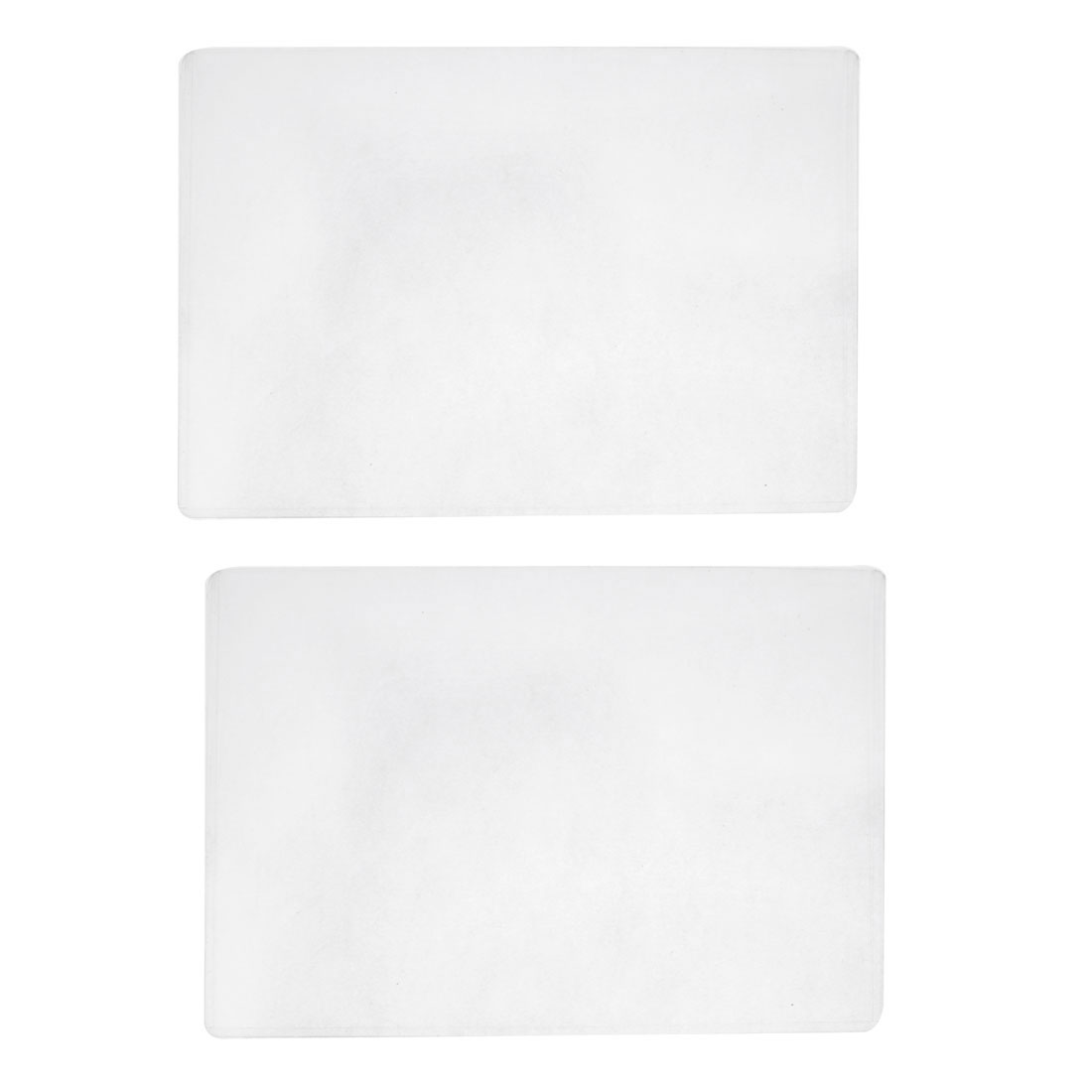 Clear Plastic Name ID Card Paper File Holder Case Protector Cover 2pcs