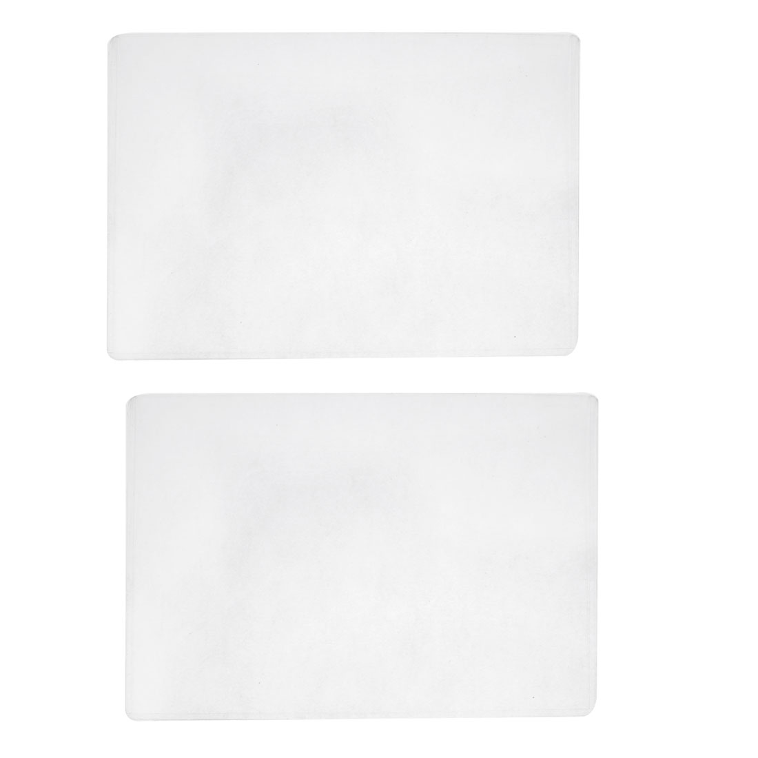 2pcs Clear Name Horizontal ID Card Holder Case Sleeves Protector Cover