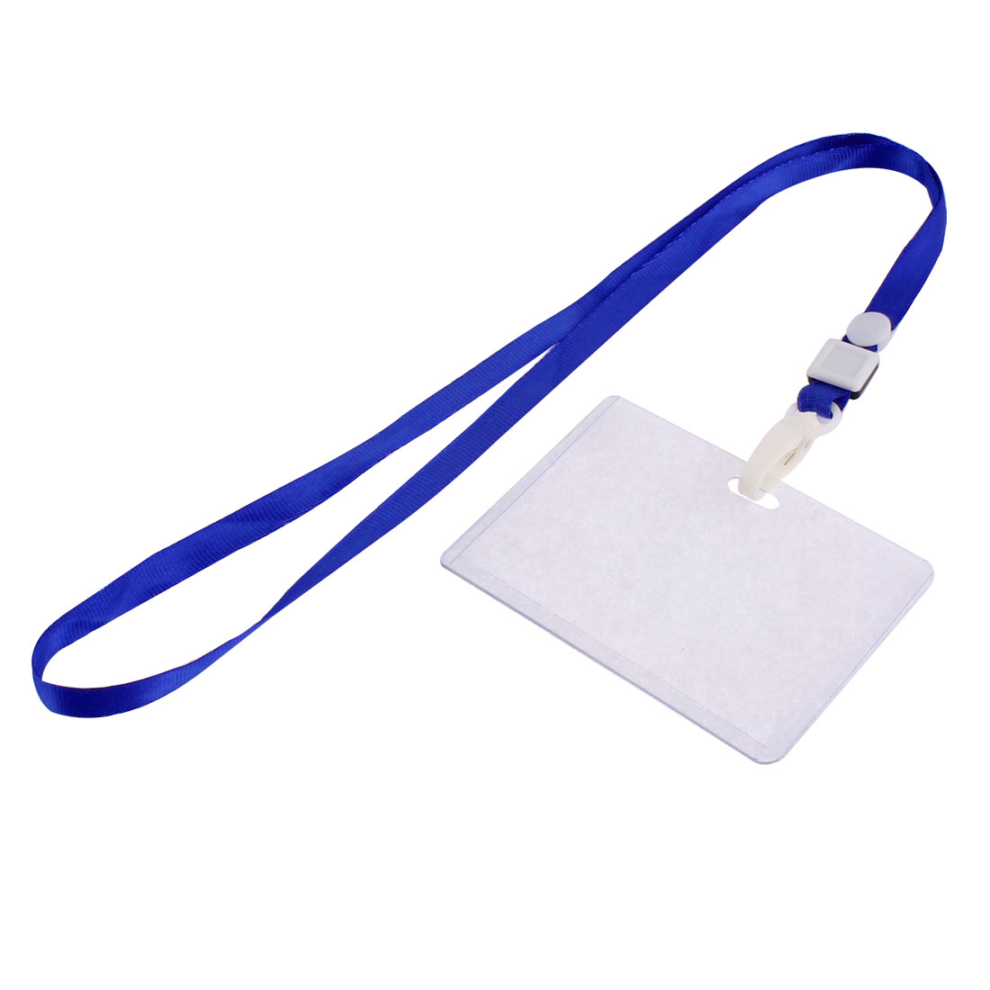Plastic Business Lanyard ID Badge Card Key Holder Case Pocket Neck Strap Clear