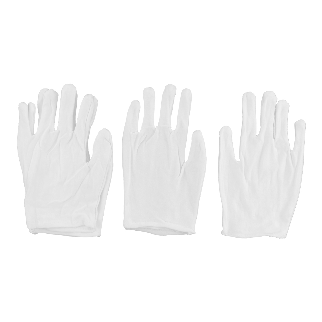 Women Cotton Blends Hand Protection Safety Work Working Gloves 2 Pairs