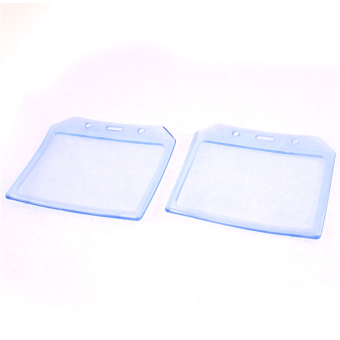 Clear Plastic A7 Badge Exhibition ID Card Holder Case 2pcs