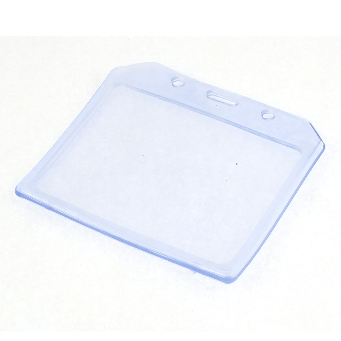 Horizontal Transparent Plastic ID Card Name Badges Holder Pocket
